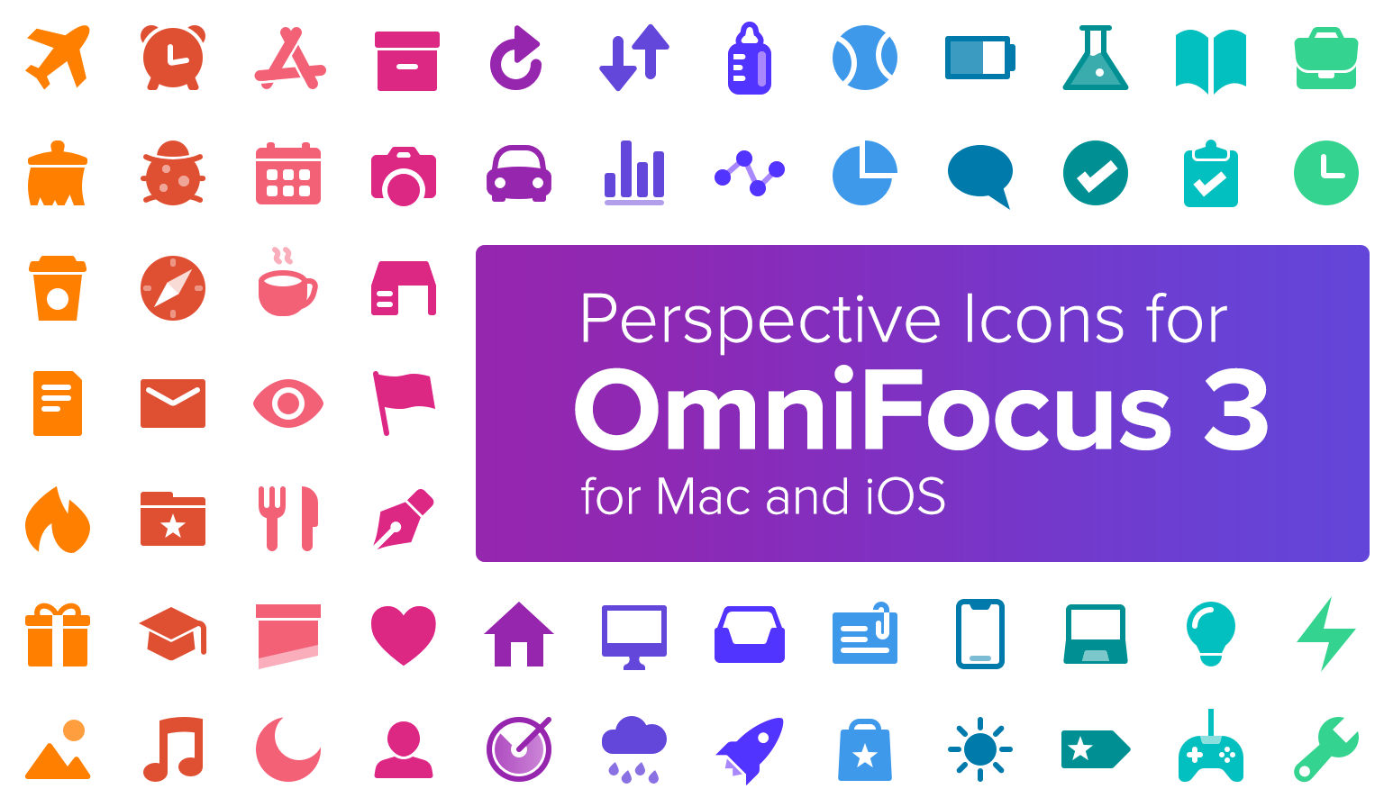 Perspective Icons for OmniFocus 3, by Josh Hughes